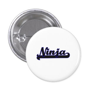 Ninja Classic Job Design 1 Inch Round Button
