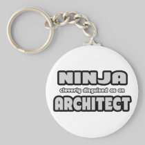 Ninja Cleverly Disguised As An Architect Basic Round Button Keychain