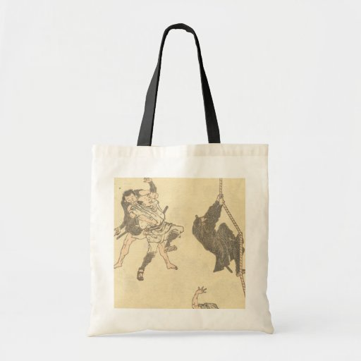 Ninja Climbing a Rope circa 1800s Japan Tote Bags