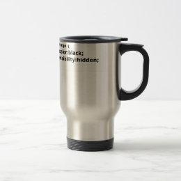 Ninja Coder CSS Class Travel Mug