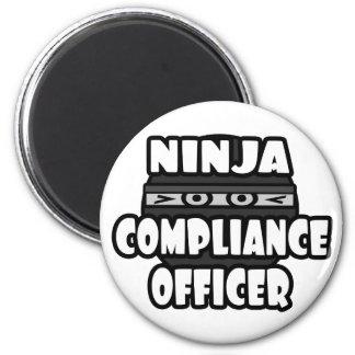 Ninja Compliance Officer Refrigerator Magnets