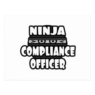 Ninja Compliance Officer Postcard