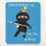 Ninja con la aguja y los pernos de costura Mousepa Alfombrillas De Raton