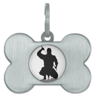 Ninja con la espada placas mascota
