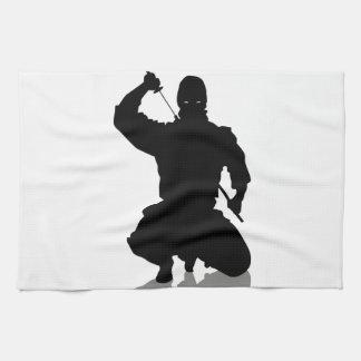 Ninja con la espada toallas de mano