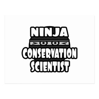 Ninja Conservation Scientist Postcard