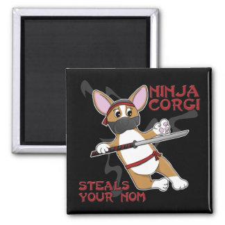 Ninja Corgi Refrigerator Magnet