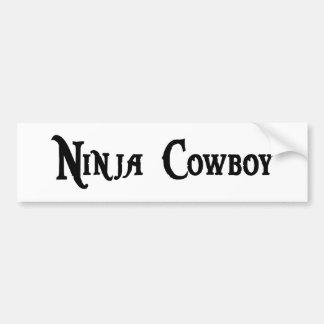 Ninja Cowboy Bumper Sticker Car Bumper Sticker