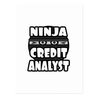 Ninja Credit Analyst Postcard
