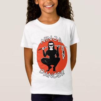 ninja dancer girls baby doll t-shirt