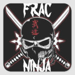 Ninja de Frac Calcomanías Cuadradas