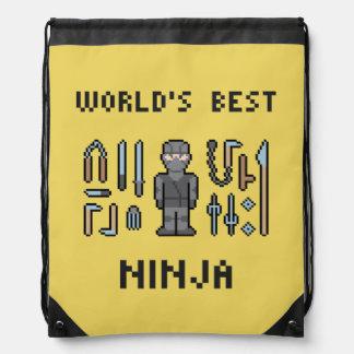 Ninja del mundo del pixel mejor mochilas