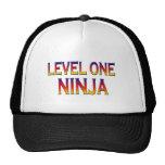 Ninja del nivel uno gorros