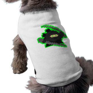 Ninja del pixel camiseta de perro