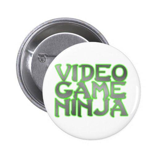 NINJA del VIDEOJUEGO (verde) Pin Redondo 5 Cm