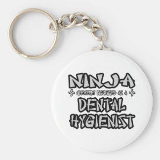 Ninja...Dental Hygienist Basic Round Button Keychain