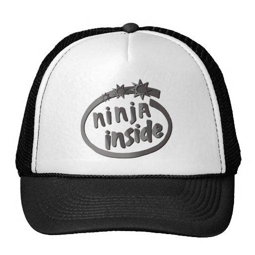 ¡Ninja dentro! Gorras De Camionero
