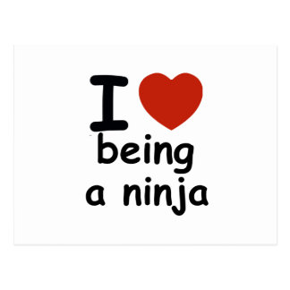 ninja design postcard