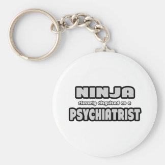Ninja disfrazado listo como psiquiatra llaveros personalizados