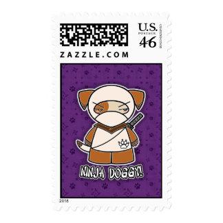 Ninja Doggy! Postage Stamp