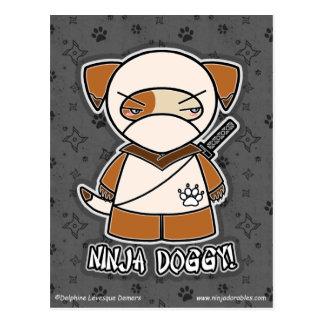 Ninja Doggy! Postcard