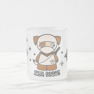 Ninja Doggy With Shurikens Mug