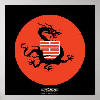 Ninja Dragon and Logo Poster