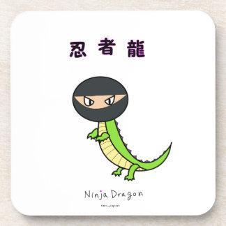Ninja Dragon Funny Art Japan Kanji Kawaii Cute Fun Drink Coaster
