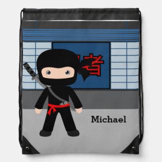 Ninja Drawstring Bag