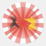 Ninja Dreaming Round Sticker
