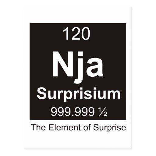 Ninja el elemento de la sorpresa tarjeta postal