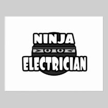Ninja Electrician Postcard