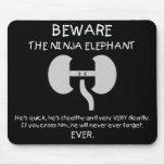 Ninja Elephant! Mousepads