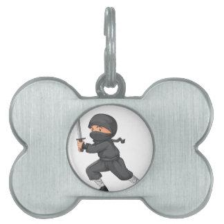 Ninja en blanco placas mascota