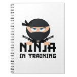Ninja en el entrenamiento libro de apuntes