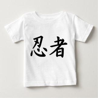 Ninja en kanji japonés polera