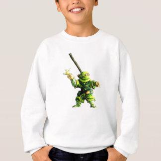 Ninja en verde sudadera