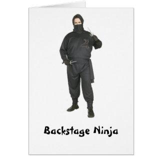 Ninja entre bastidores tarjeta de felicitación