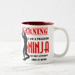 Ninja entrenado taza