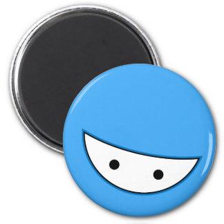 Ninja Face (Blue Fridge Magnet