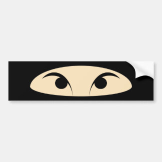 Ninja Face Bumper Sticker