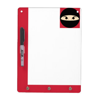 Ninja Face Dry-Erase Board
