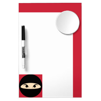 Ninja Face Dry Erase Board With Mirror
