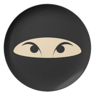Ninja Face Melamine Plate