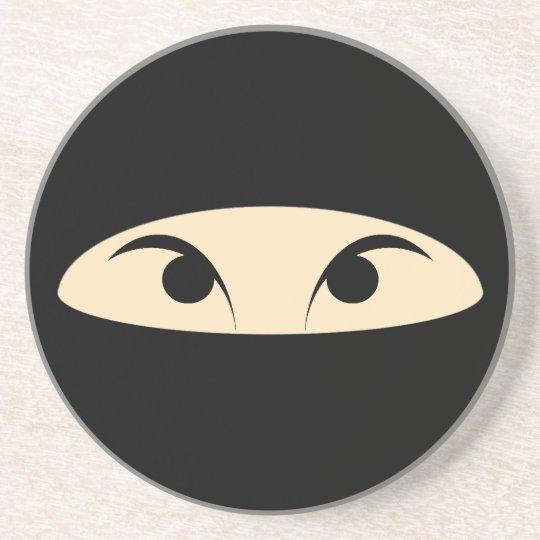 Ninja Face Sandstone Coaster