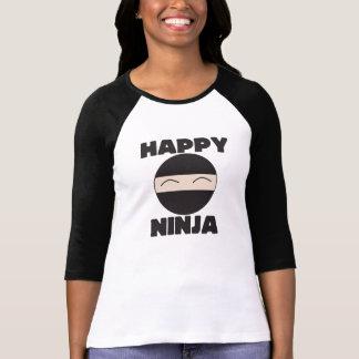 Ninja feliz camiseta