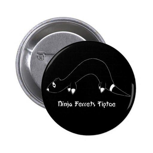 Ninja Ferret Black Button