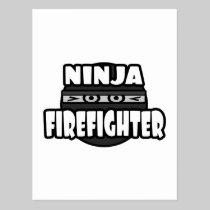 Ninja Firefighter Postcard