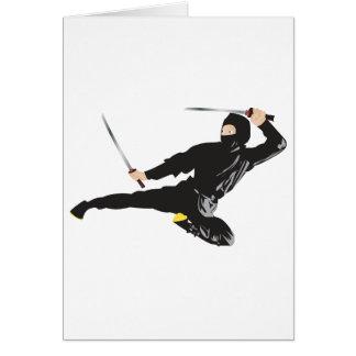 Ninja flying kick card