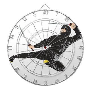 Ninja flying kick dart board